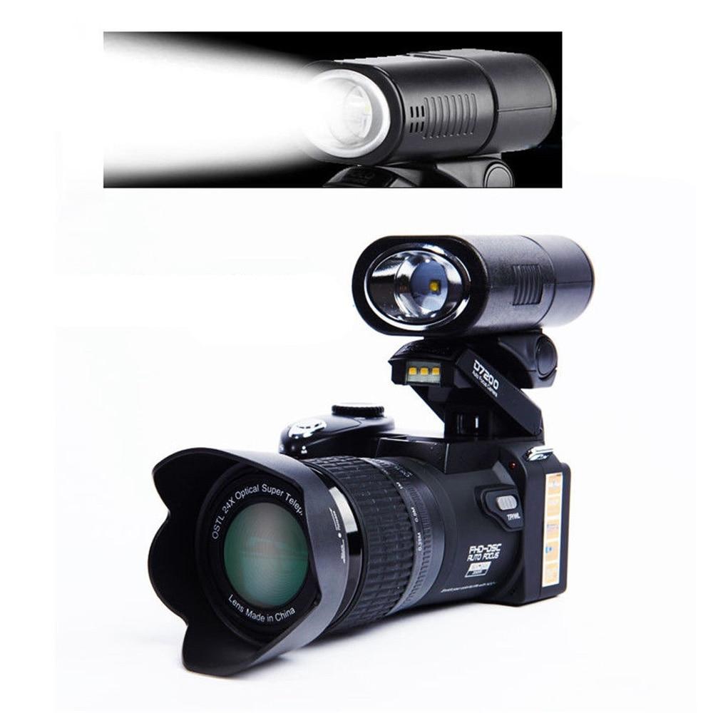 "POLO D7200 Digital Camera 16MP 3.0"" 1080P HD Camcorder 24X Optical Zoom Telephoto Lens Wide Angle Lens Video Camera"