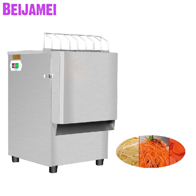 BEIJAMEI Acero inoxidable máquina automática de corte de vegetales Máquina de trituración de pepino de rábano de patata eléctrica