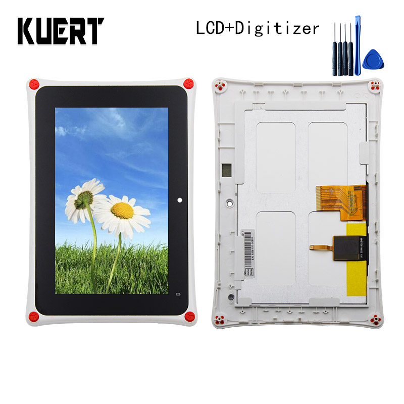 High Quality LCD Combo Touch Screen Digitizer  Glass LCD Display Assembly Frame For Fuhu Nabi 2 Kids Tablet  Accessories Parts цены онлайн