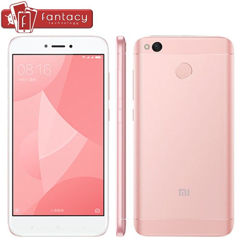 "bilder für Original Xiaomi Redmi 4X4X2 GB 16 GB Smartphone 4100 mAh Snapdragon 435 Octa Core Fingerabdruck ID FDD LTE 4G 5 ""HD MIUI 8,2 OTA"