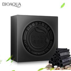 BIOAQUA из черного бамбукового угля Essential Масло и мыло ручной работы отбеливание акне мыло масло для глубокого очищения-контроль уход за лицом
