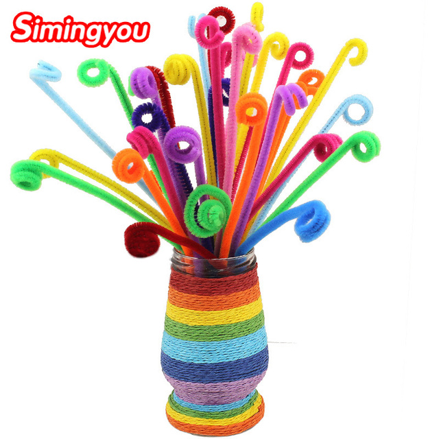 Simingyou 100pcs Montessori Materials Chenille Children Educational Toy Crafts For Kids Colorful Pipe Cleaner Toys Craft