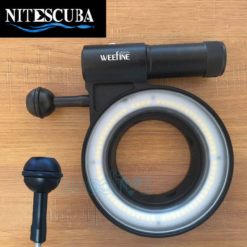 NiteScuba Diving Light Ball Mount For Weefine Ring Light Adapter For RX100 TG5 Canon Camera Underwater Photography Accessories
