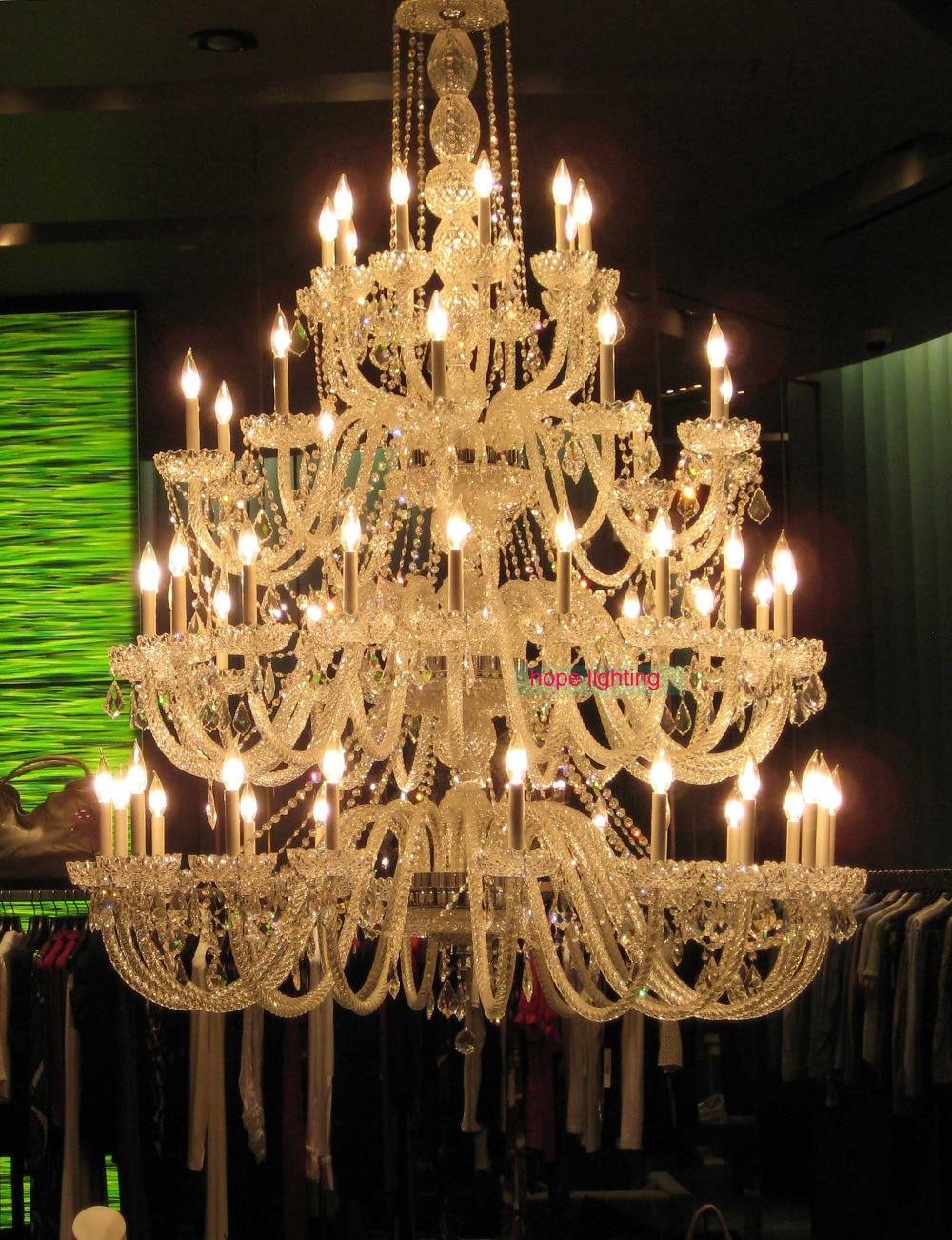 bohém kristálycsillár a szállodaprojekthez kortárs üvegcsillár - Beltéri világítás - Fénykép 1