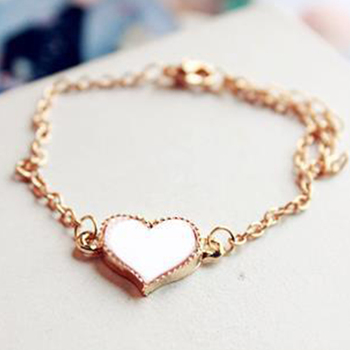 Female Jewelry Vintage Style Women Bracelet Fashion Sweet Heart Four-leaf Clover Gold Plating Bracelet For Woman 3 Colors bracelet