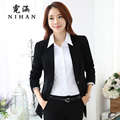 Women's autumn and winter wear suit Slim big yards long section of the jacket women dress