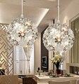 Qualidade premium bonito prata alumínio luminária luzes do candelabro de cristal luminária para sala de jantar quarto free grátis