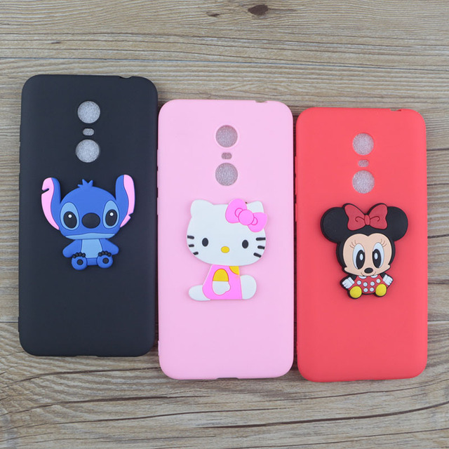 sports shoes 6bab3 b1233 US $1.48 5% OFF|Cute Cartoon Silicone Case for Xiaomi Redmi 5 Plus Note 5  India Cases Stitch Hello Kitty Minnie Cat Soft TPU Phone Cover-in Fitted ...