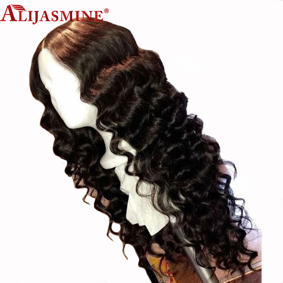 Alijasmine Peruvian Human Hair Lace Front Wigs For Women 8 24 Deep Wave Pre pluck Natural