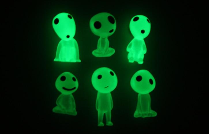 Reasonable 6pcs/set Mini Miyazaki Hayao Action Figures Ghost Princess Luminous Tree Elves Toys Selected Material Action & Toy Figures