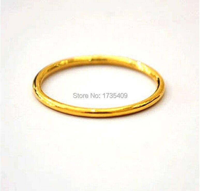 999 Solid 24K Yellow Gold Ring / Bless Men&Women Ring/ USA Size 8 999 solid 24k yellow gold ring bless men