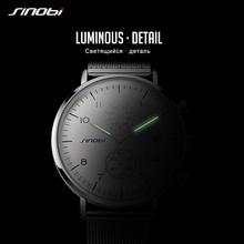 SINOBI Luminous Pointer Mens Watches Top Brand Luxury Chronograph Quartz Watch Men Sport Waterproof Clock Male Relogio Masculino