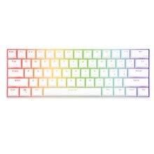 Rk rk61 mecânico gaming teclado branco sem fio bluetooth 60% teclados 61 teclas rgb retroiluminado luz de fundo azul marrom vermelho interruptor