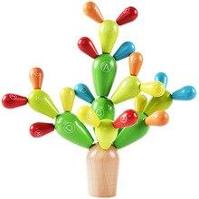 Детские деревянные игрушки Разборка сплайсинга кактус строительные блоки игрушки Ранние обучающие буквы кактус DIY руки