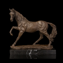 Classical Styles High Quality Bronze sculpture Hurtling Horse Statue metal fine horse courser figurines ag0003 argentina 2012 leo gallegos municipal committee statue horse stamp 1 new 1120