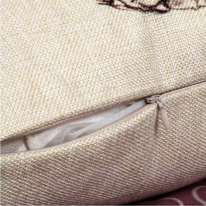 Френчи белье Хлопок Подушка wihtout внутренняя Французский бульдог животного Подушка Шаблон Дизайна Декоративные диванные подушки cojin