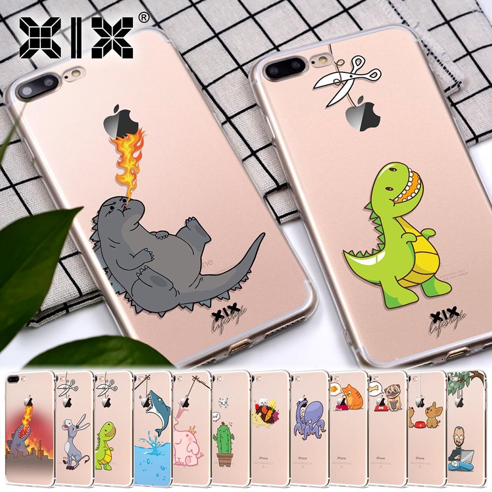 Galleria fotografica XIX for Funda iPhone 6 case 5 5C 5S 6S 7 Plus X Cute Godzilla Soft TPU for Cover iPhone 7 Case Original for Coque iPhone 8 Case