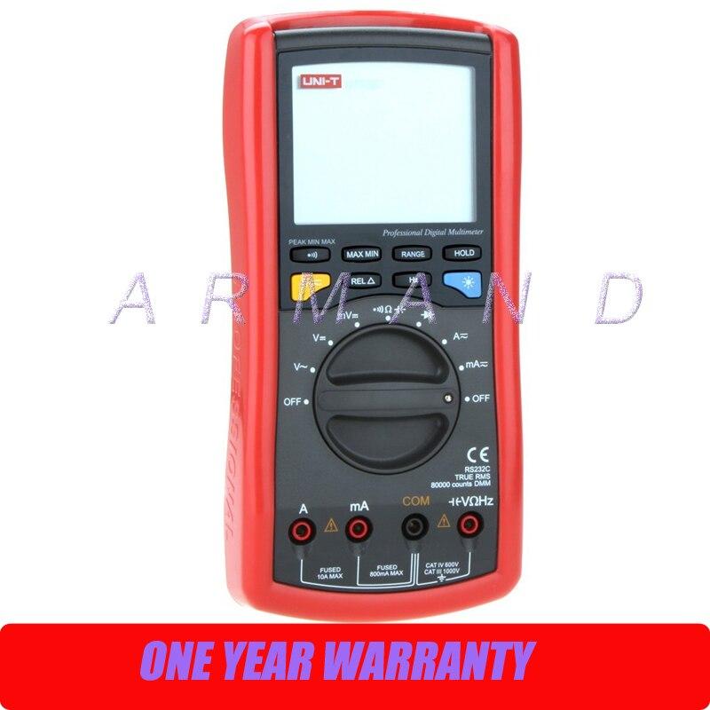True RMS 1000V 10A Auto Range 80000 Count Resistance Capacitance Frequency Conductivity Digital Multimeter UT70D  цены