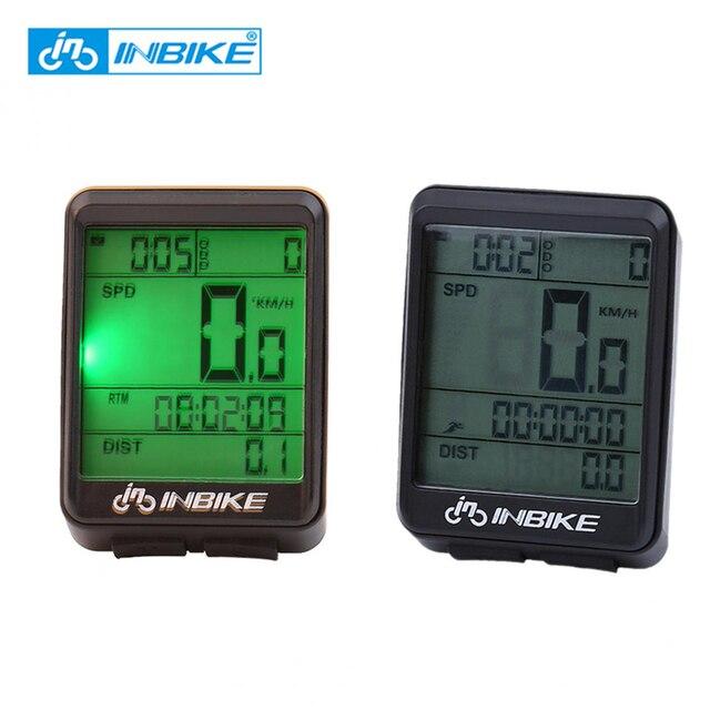 INBIKE Waterproof Bicycle Computer Wireless MTB Road Bike Cycling Odometer Rainproof Bicycle Speedometer Watch LED Digital Rate