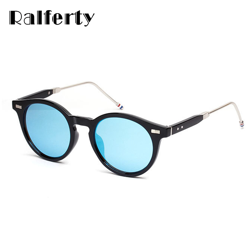 a8df22b4263 Ralferty Trendy Vintage Sunglasses Women Men UV400 Black Mirror Coating Sun  Glasses Retro Hipster Goggles Oculos