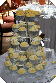 free charge of shipping cost Round 5 Tier wedding birthday cupcake stand kids party supplies decoration