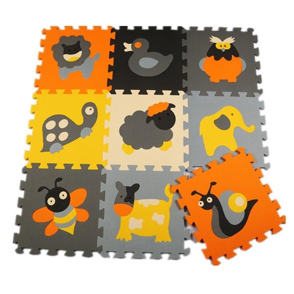 Meiqiku 9pcs set baby play EVA foam puzzle mat Cartoon EVA foam pad Interlocking Mats for