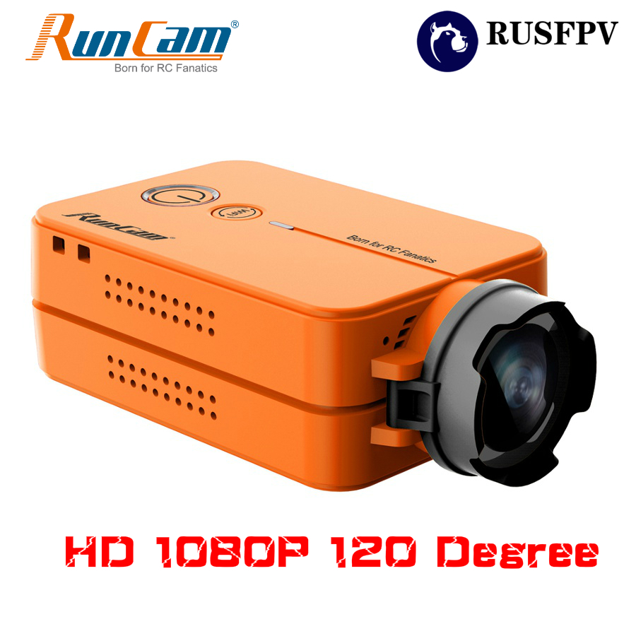 RunCam 2 HD 1080P 120 Degree Wide Angle WiFi FPV Camera For RC Drone FPV Racing Quadcopter Airplane Orange Color runcam 2 hd 1080p 120 degree wide angle wifi fpv camera ir blocked ntsc pal switchable for fpv racing drone