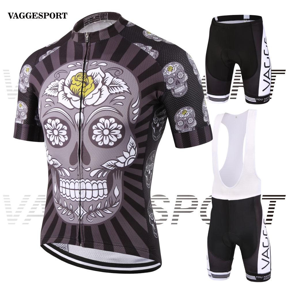 Prix pour Squelette nouveau style unique vélo vêtements pour hommes/de compression d'impression par sublimation cyclisme porter/à séchage rapide longue zip vélo jersey ensemble