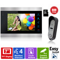 Homefong Video Door Phone Intercom System 7 inch Color LCD Monitor +16GB SD Card Video Record with IR Doorbell Camera