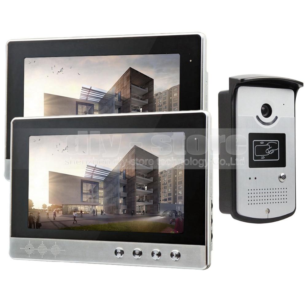 DIYSECUR 10 inch Video font b Door b font Phone Doorbell Home Security Intercom System RFID