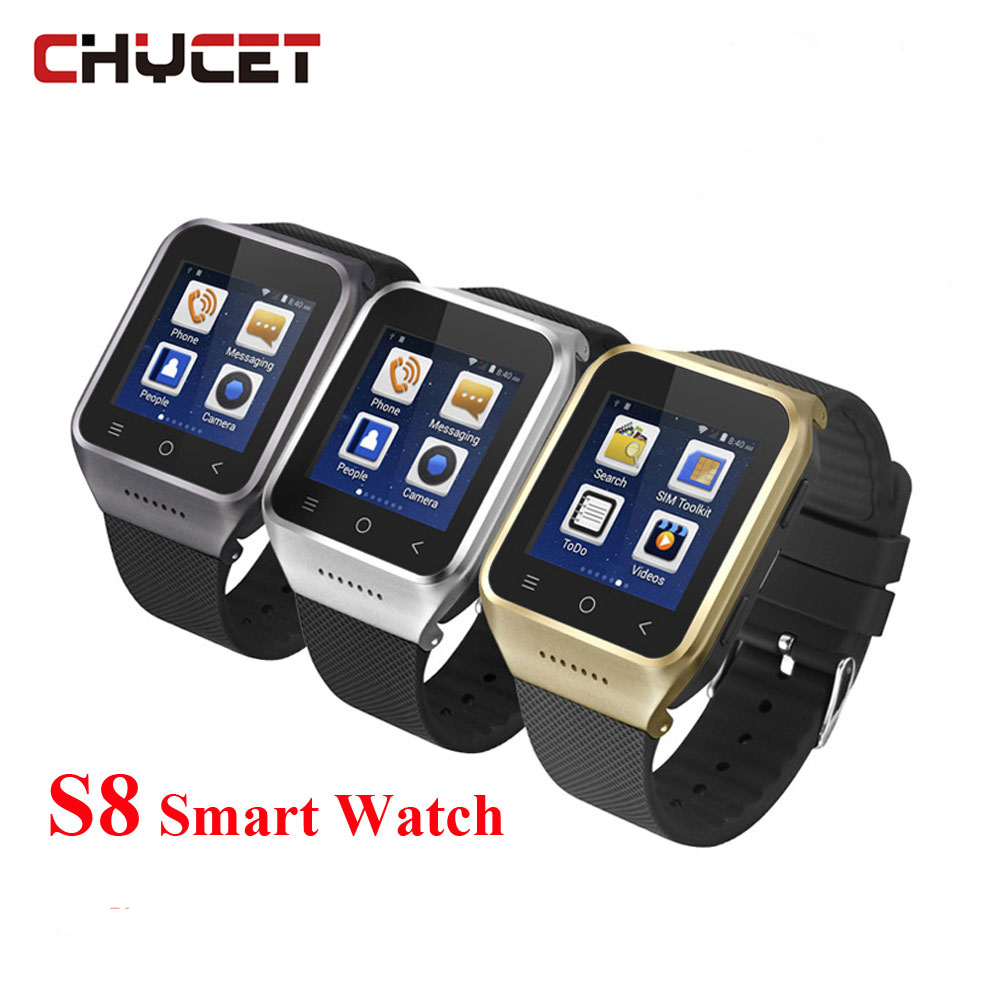 Chycet zgpax S8 Smart Watch GPS Wristwatch BT4.0 Wifi Camera SmartWatch GPS Supports GSM 3G WCDMA Call Phone watches PK Q18 DZ09 wireless service call bell system popular in restaurant ce passed 433 92mhz full equipment watch pager 1 watch 7 call button