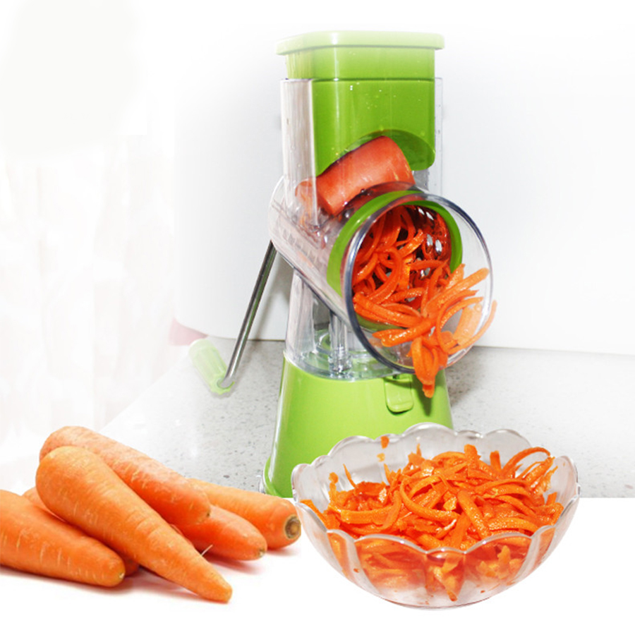 Vegetable Spiral Slicer Multifunctional Manual Chopper Mandoline Slicer Cheese Grater Clever Vegetable Cutter Tools For Kitchen industrial electric coarse cheese grater grinder grinding machine mini stainless steel cheese grater