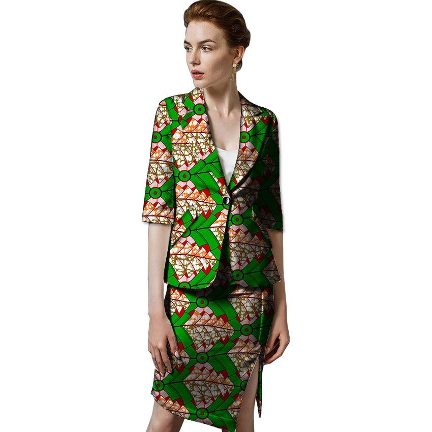 Ankara Partie Pour Blazer 5 Blazers Costume Trimestre Imprimer Africaine Dashiki Ensemble 1 4 2 Mode mariage Trois 6 4 Jupe Vêtements Femmes 7 3 rrOx6q
