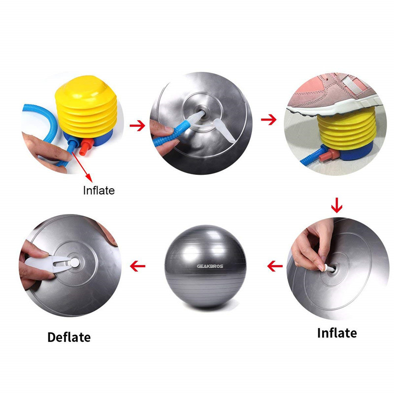 Anti-slip Exercise Balls with Pump Suitable for Yoga/Gym/Workout/Pilates 7