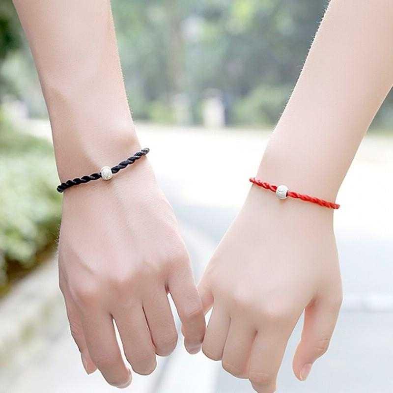1 PCS אדום שחור את חבל לעטוף צמידי אופנה מזל אדום שחור בעבודת יד חבל צמידי עבור נשים גברים אוהבי לבנות