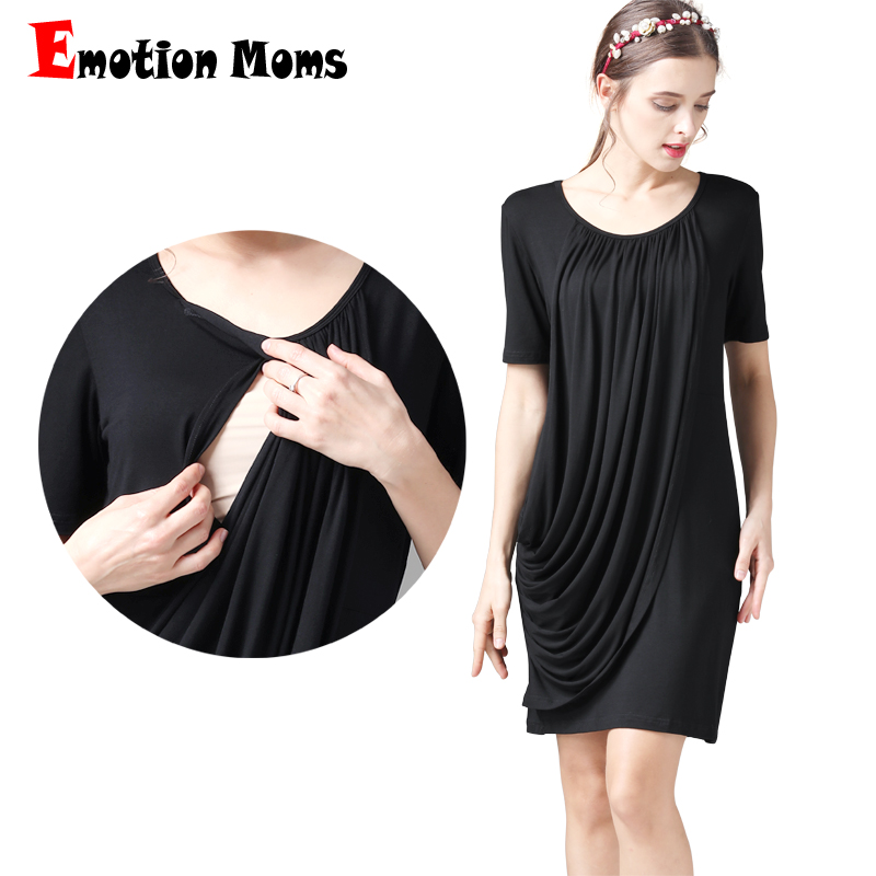 Emotion Moms Summer Maternity Clothes Maternity Dress Breastfeeding Dresses Pregnancy Clothes For Pregnant Women Nursing Dress