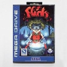 The Misadventure Of Flink 16 bit MD card with Retail box for Sega MegaDrive Video Game console system