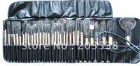 2012 Christmas Gift 32pcs Pro Cosmetic Tool Makeup Brush Set Kit With Black Bag Case