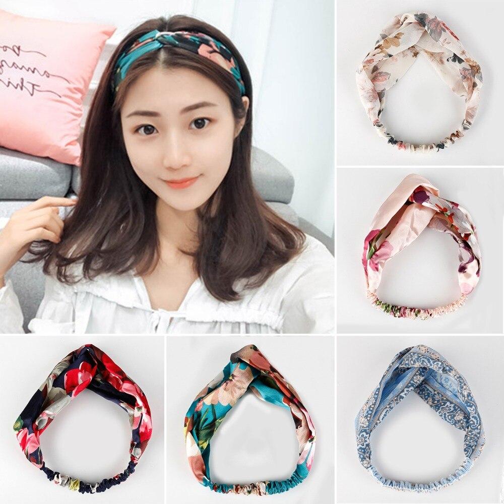 100% QualitäT 2018 Neue Vintage Turban Stirnbänder Für Frauen Einfache Haar Zubehör Korean Kpop Haarband Damen Stirnband Haarband