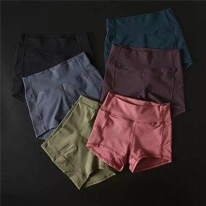 Image 4 - SHINBENE Morbido Nylon Fitness Jogger Shorts Delle Donne A Vita Alta Solido di Sport di Allenamento di Shorts Sottile Tummy Controllo Athletic Gym Shorts