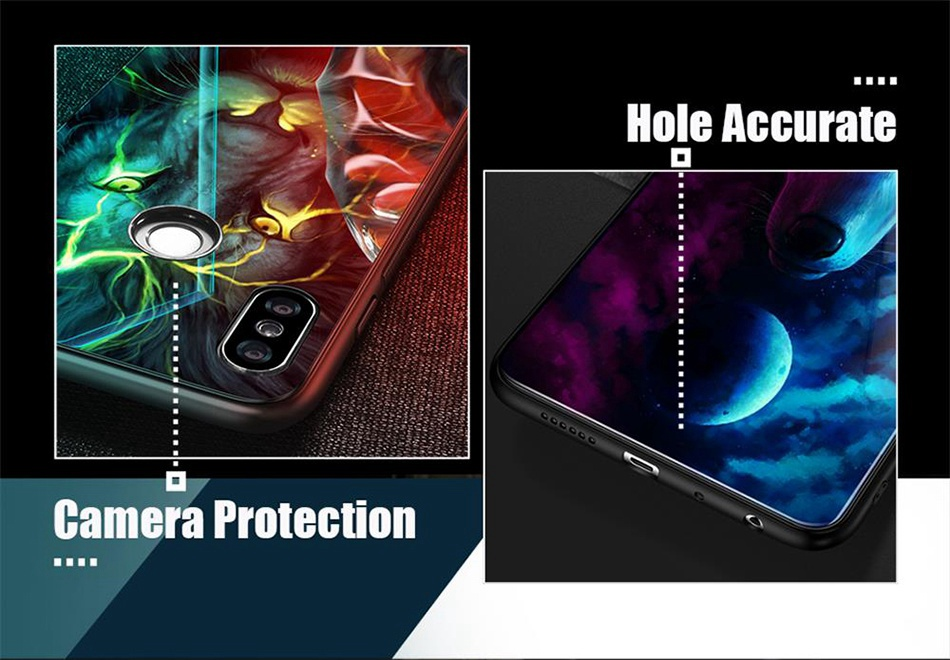 Tempered Glass Case For Xiaomi Redmi Note 5 5 Pro 5 Plus Note 4X Case Luxury Animal Pattern Case For Xiaomi Mi 8 A1 5X Coque     (7)