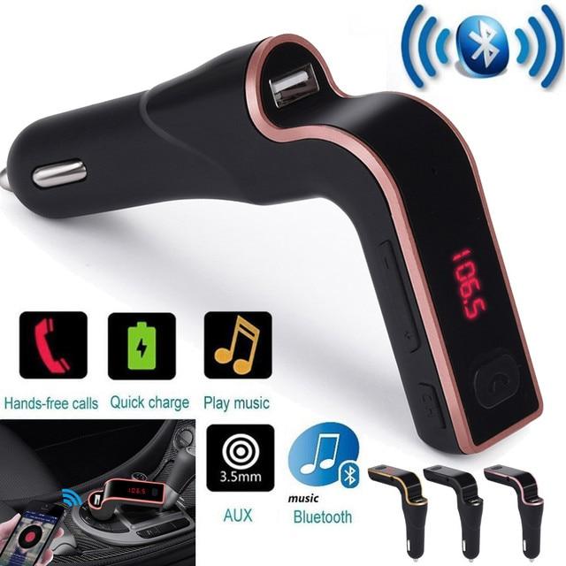 2019 multifunción Bluetooth Universal coche Bluetooth FM Transmisor MP3 reproductor de Radio USB cargador AUX Set a adaptador Mp3 7 plus