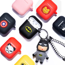 Marvel Cartoon Silicone Bluetooth Earphone Case For Apple AirPods Ultra-thin Cute Protection Cover For AirPods Charger Box Funda(China)