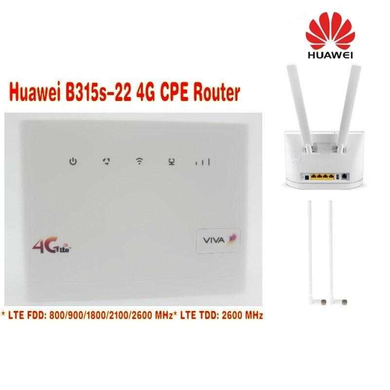 Set of Unlock Huawei B315, Huawei 4g portable wireless router huawei b315s-22 lte wifi router+2pcs 4g SMA antenna