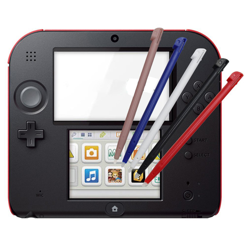 Plastic Stylus Pen Screen Touch Pen For Nintendo 2DS Game Console Touch Screen Stylus Pen For Nintendo 2DS Black Blue Red New