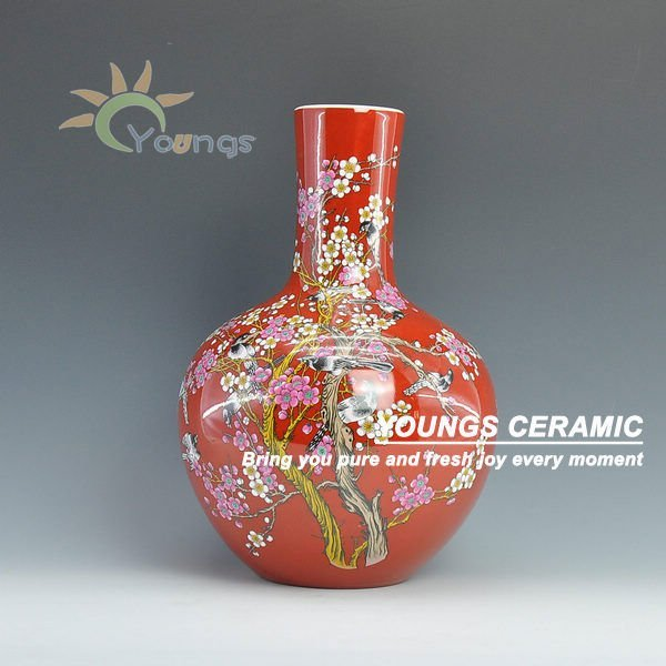 Decorative Red Chinese Porcelain Vases In Vases From Home Garden