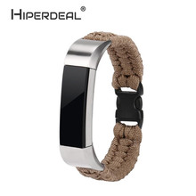 HIPERDEAL NEW Nylon Rope Survival Bracelet Watch Band For Fitbit Alta/Fitbit Alta HR For SmartWatch Accessories Oct6
