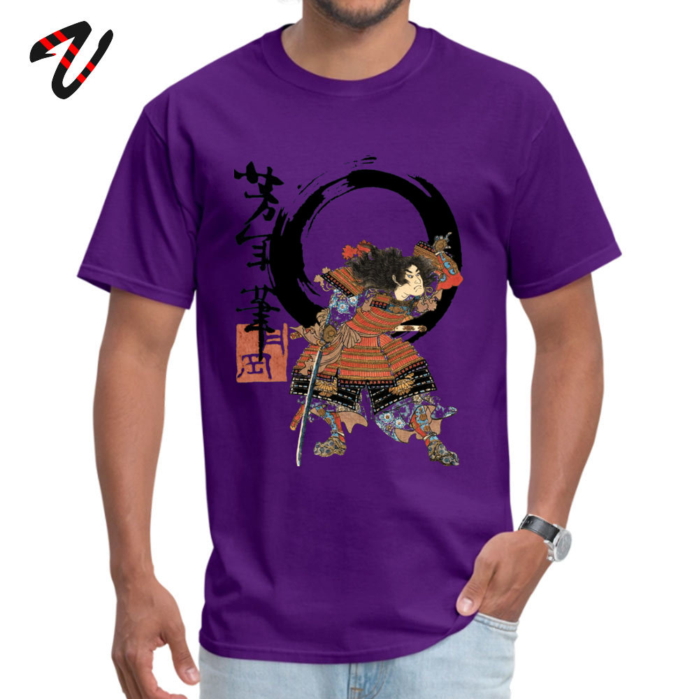 Samurai Flipping! 2018 Newest Camisa Tshirts Crewneck 100% Cotton Short Sleeve Tops Shirts for Men T Shirts Thanksgiving Day Samurai Flipping! -17860 purple