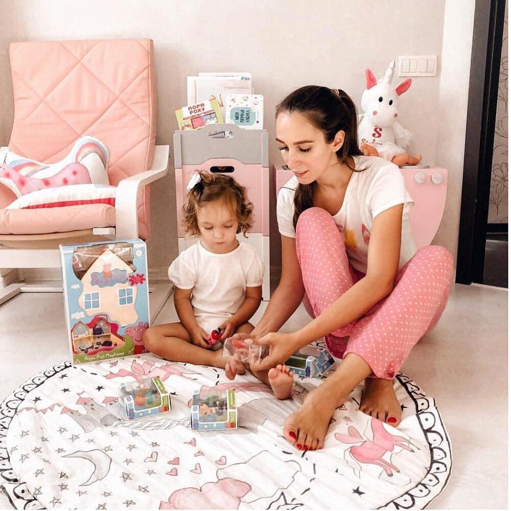 2019 nouveau licorne bébé enfants tapis de jeu pliable doux et lavable enfants jouent tapis avec 95 cm bébé chambre décoration B904