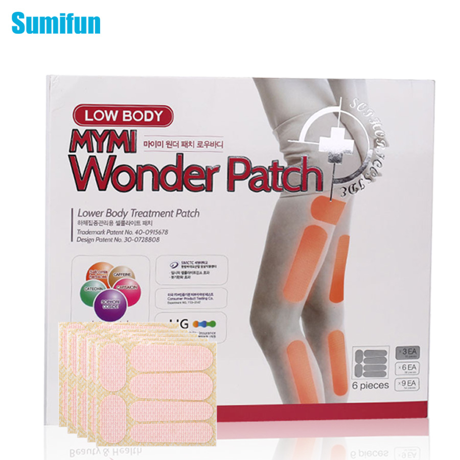 36Pcs in 1 Box Mymi Wonder Patch Lower Body Treatment Slimming Slim Patch Leg Patch Cream Plaster Lose Weight Loss C096 3